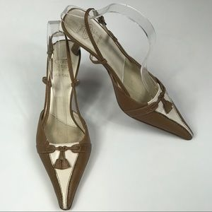 Leather Pointed Toe High Heels Comfort Size 6.5